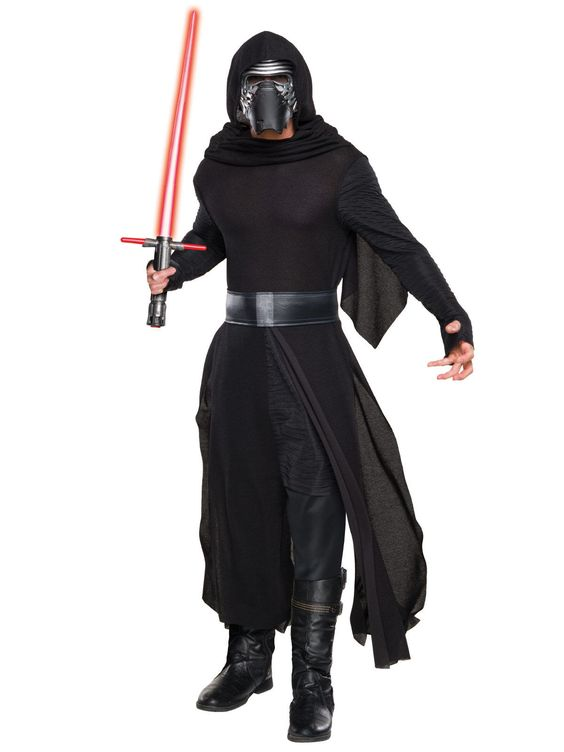 Kylo Ren Star Wars Kostüm Lizenzware schwarz-silber, aus unserer Kategorie Film- & Promikostüme. Kylo Ren, der dunkle Jedi aus Star Wars: Das Erwachen der Macht, ist definitiv eine beeindruckende Erscheinung. In seinen dunklen Roben wird sich niemand mit Ihnen anlegen, das ist garantiert! Ein grandioses Kostüm für Fasching, Conventions und Mottopartys.