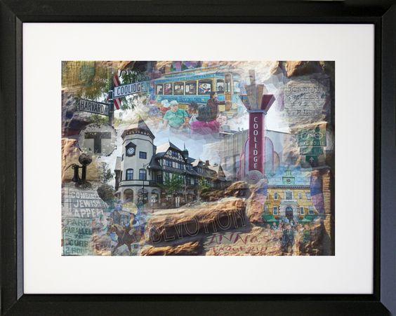 Boston Coolidge Corner - Brookline Framed Photographic Print
