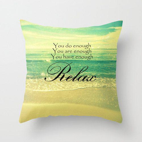 Relax Pillow  Beach Photography  Decorative Throw by ModernBeach, $38.00