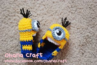 Free Crochet Pattern Minion Baby Booties : Minion baby, Minions and Baby booties on Pinterest