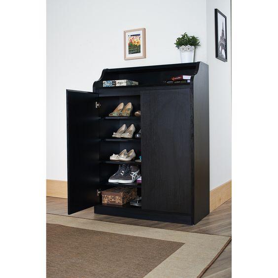 Hokku Designs Gavinetta 15-Pair Shoe Storage Cabinet