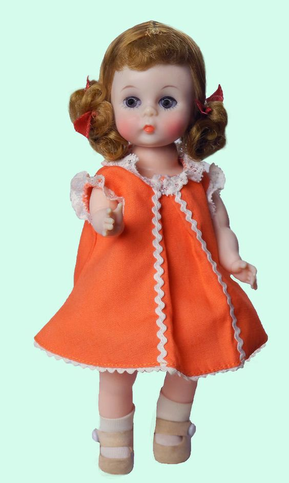 "8"" 1960'S REDHEAD W/CURLY PIGTAILS..WENDYKINS BKW""WENDY LOVES BUTTERSCOTCH CANDY"