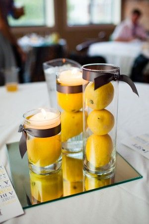 Simple Centerpieces Grey And Candy Bars On Pinterest