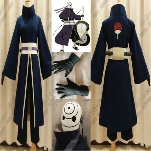 Itachi Sasuke Madara Costume Robe Hood Hat Coat Akatsuki Cloak Hooded Cosplay