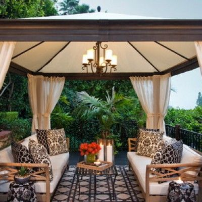 Images ideas for a patio with gazebo wood deck flooring for Add a room mural gazebo