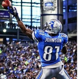 Detroit Lions - Calvin Johnson set a receiving record with broken fingers.. Stud.