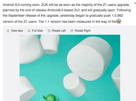 das ZUK Z1 Android 6.0 Marshmallow Update wirft seinen Schatten voraus  http://www.androidicecreamsandwich.de/zuk-z1-android-6-0-marshmallow-update-soll-bald-verfuegbar-sein-425018/  #zukz1   #zuk   #shenqi   #smartphone   #smartphones   #android   #androidsmartphone   #android60   #android60marshmallow   #androidmarshmallow