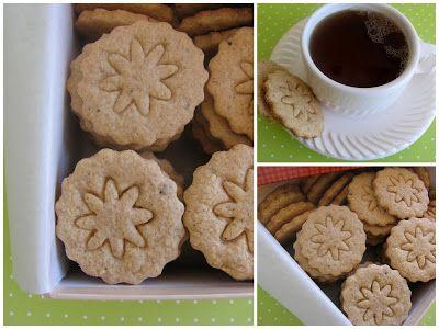 ! Biscoitos amanteigados com farinha de amendoas e especiarias Speckulatius e Bambá de Couve