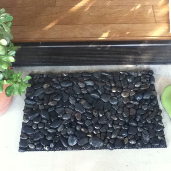 River rocks door mats and rivers on pinterest for River stone mat