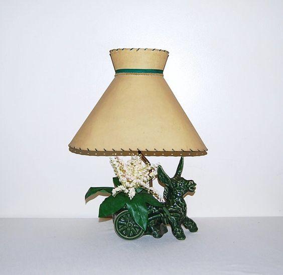 50s Vintage Lamp by CheekyVintageCloset on Etsy, $74.00