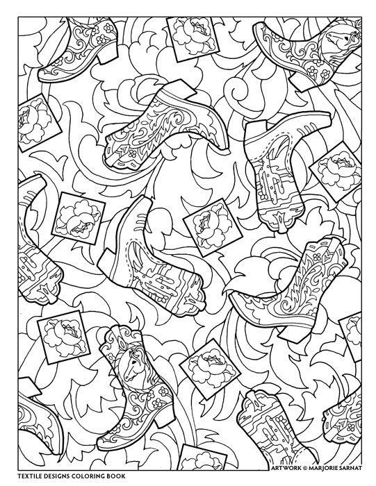 creative haven textile designs coloring bookmarjorie