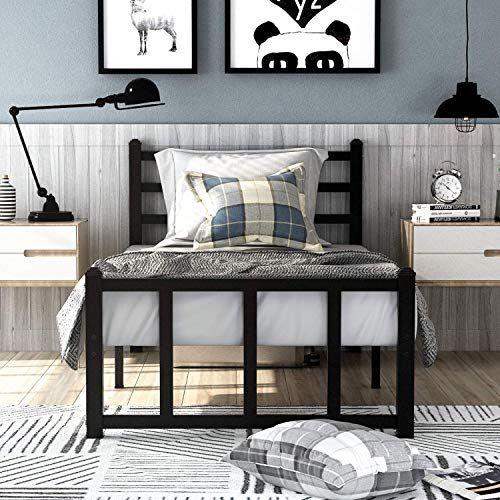 Best Seller Greenforest Twin Bed Frame Headboard Stable Slats