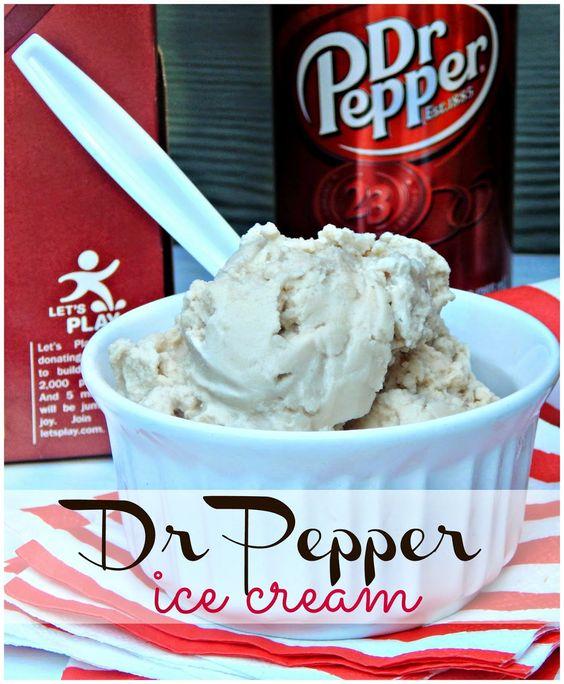 Dr. Pepper Ice Cream