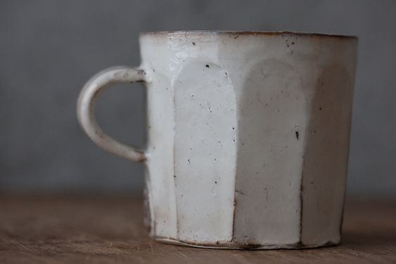 white ceramic cup it reminds me Morandi artworks