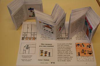 Pour valoriser les productions d'écrit, réaliser des petits livres de 8 pages à partir d'un A4