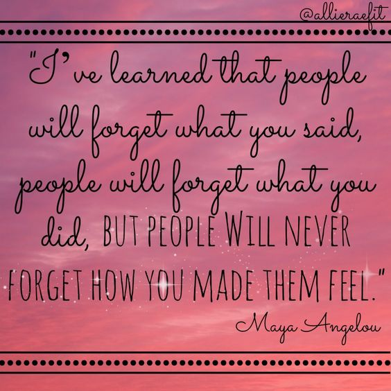 Your actions are so much more than just little things. There is NOTHING more important than how we treat each other. That is what people remember. How do you want to be remembered?
