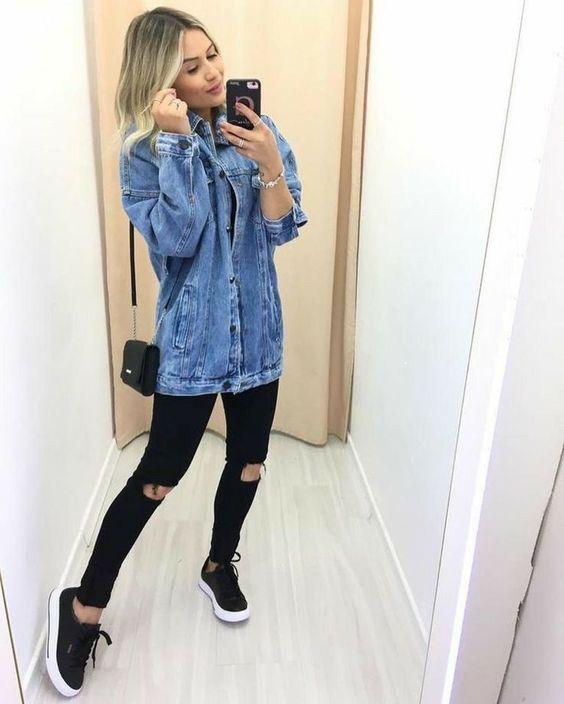 Look calça com jaqueta perfeitos.