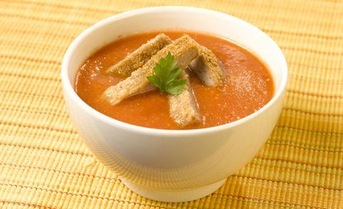 PRONACA RECETA: Crema de tomates con milanesa