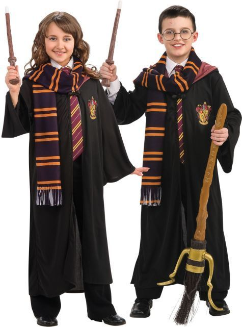 Rubie S Costumes At Partycity Com Hogwarts Costumes Wands Brooms Harry Potter Costume Party City Costumes Gryffindor Costume