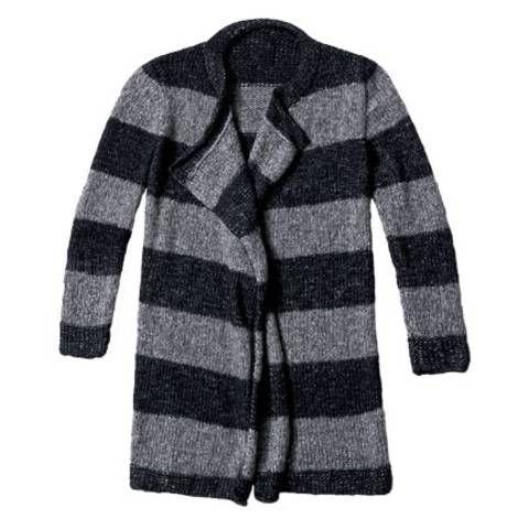 Strickmuster: Blockstreifen-Jacke stricken - Anleitung und Muster