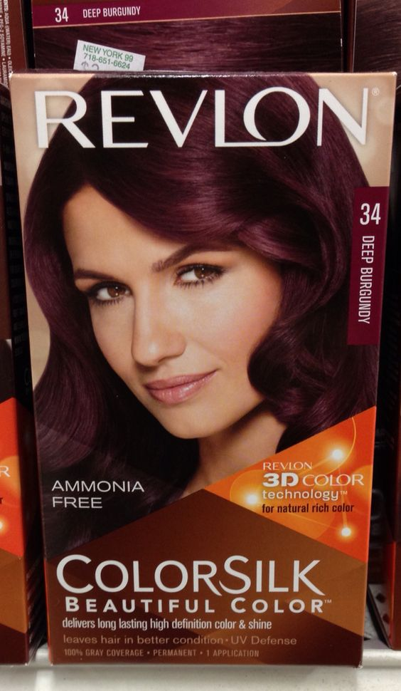 this color tomorrow! Revlon hair color 34 Deep Burgundy -kim | Hair ...