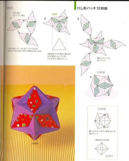 Adobracya: Diagrama Do Kusudama Diamond Patches