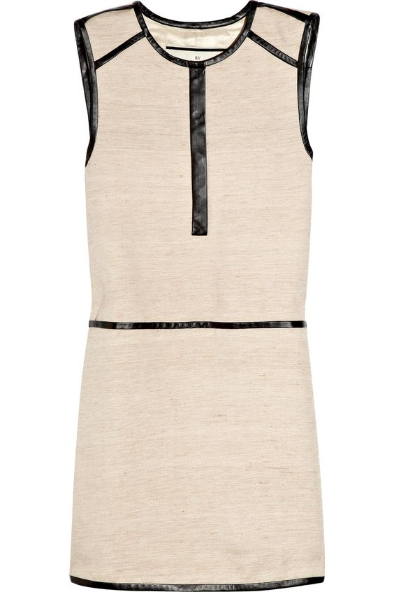 Anikka leather-trimmed silk and cotton-blend dress  Original price $675 NOW $337.50