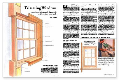 Trimming windows full pdf w instructions here http www for Window jamb definition