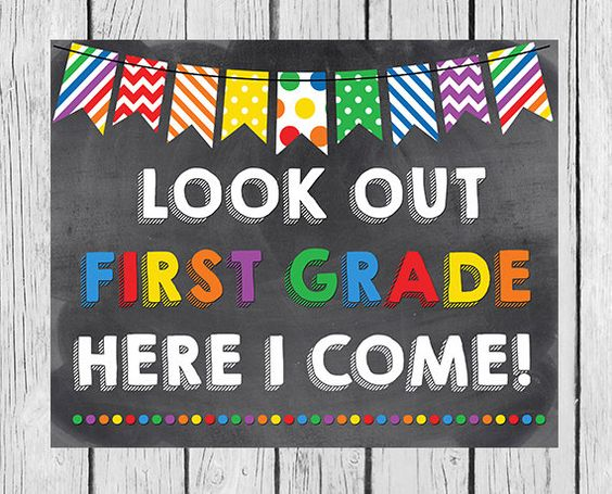Look Out First Grade Here I Come  Kindergarten by ModernStarPrint: