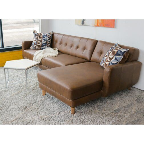 Elva Leather Sectional Leather Sectional Genuine Leather