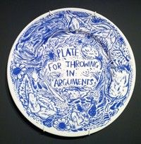 Plate For Throwing in Arguments by Keaton Henson...for my plate wall.