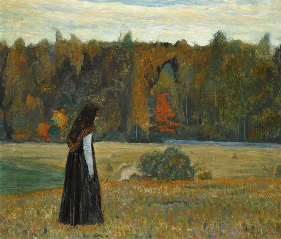 """A Lonely Woman"" by Mikhail Nesterov, 1922"
