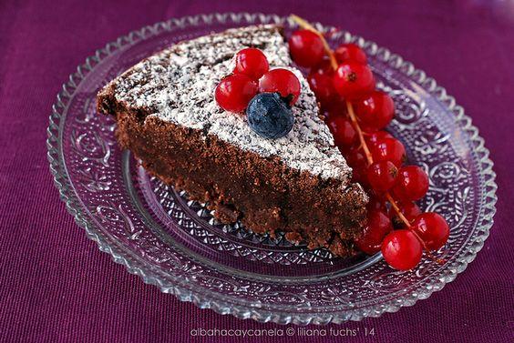 Cake de chocolate con harina de castañas (para San Valentín o para cuando sea) - Sin gluten, sin lactosa, sin huevo