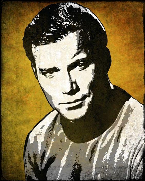Captain Kirk Pop Art Print by cutitoutart