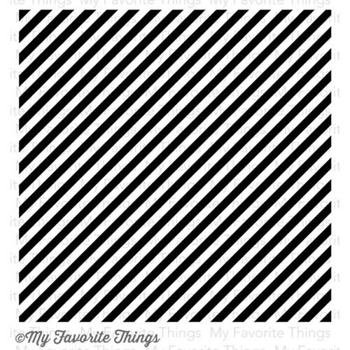 MFT BOLD DIAGONAL STRIPES BACKGROUND Cling Stamp