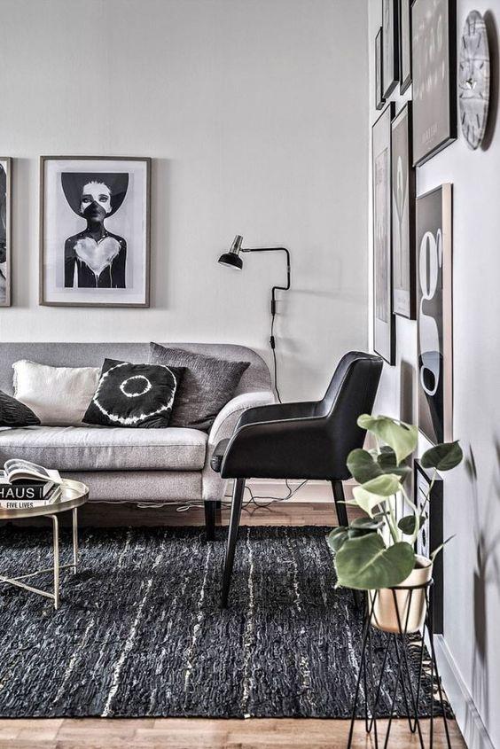 Woonkamer + grijs + decoratie  Interieur  Pinterest