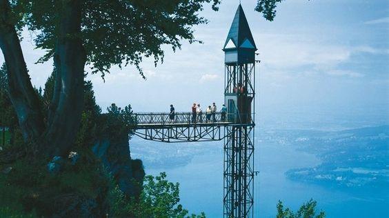 Bürgenstock – Hammetschwand-Lift - Schweiz Tourismus, Europe's tallest free-standing outdoor lift