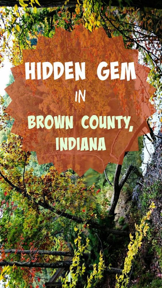 Brown County, Indiana is the place to be for fall in the Midwest!