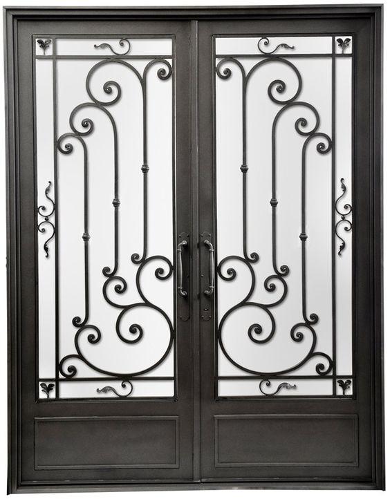 Puerta de entrada de hierro forjado del hierro design for Piscina puerta del hierro