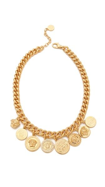 Necklace - #Versace #Medusa #Coin #Necklace $825