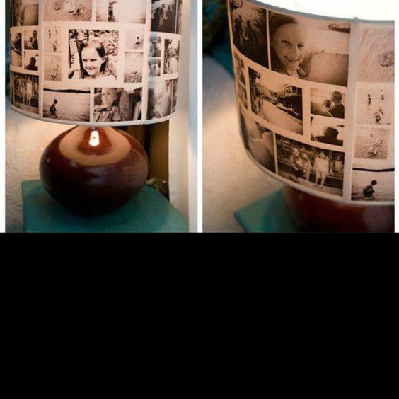 Photos on paper on a lamp..different solutions Facebook page