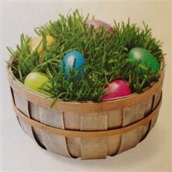 Grow your own wheat grass easter egg basket!