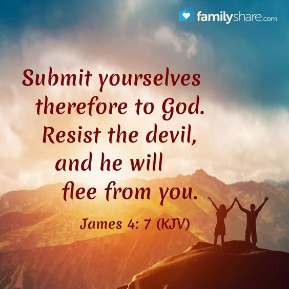 Image result for resist the devil and he will flee niv