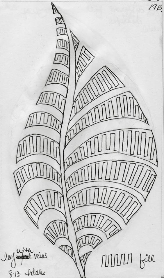Sketch Book.....Leaf Designs 5 - LuAnn Kessi
