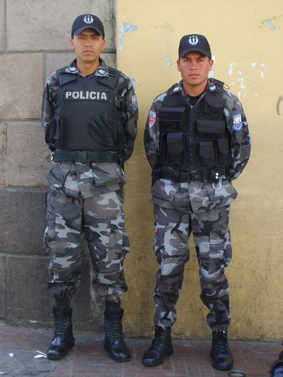 Ecuadorian Police and their booties, Quito, Ecuador, 2007.  If you have a photo that you think is worth £500 then why not enter our #bootifulcomp? Find out more here https://www.facebook.com/Headwater/app_448952861833126