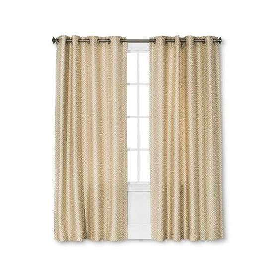 Curtains Ideas brown valance curtains : Threshold Curtain Panel Greek Key Formal Looks - Brown ($30 ...