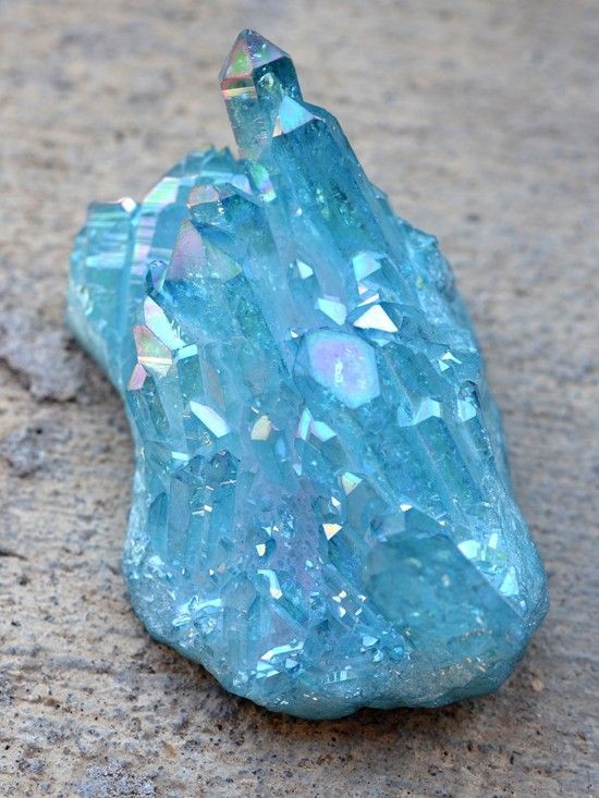 Aqua Aura Quartz brings strong healing energies that help to cleanse, repair and heal your aura. When you meditate with it, or have it in your space, you will immediately feel calmer and more at peace. #crystals