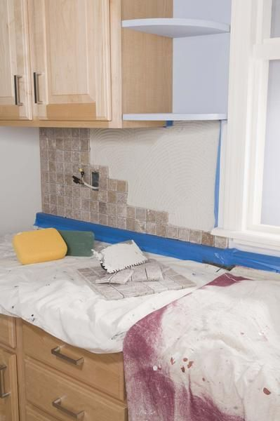 how to remove dried grout from a laminate countertop
