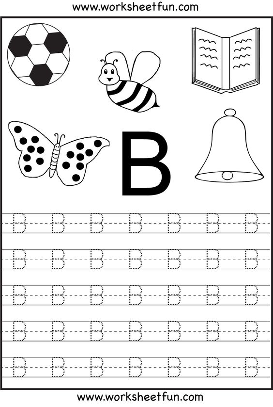 Free Printable Letter Tracing Worksheets For Kindergarten – 26 ...