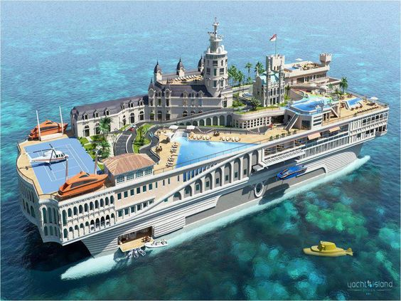"""Incredible super Yacht named """"Streets of Monaco."""" It costs of $1 billion."""
